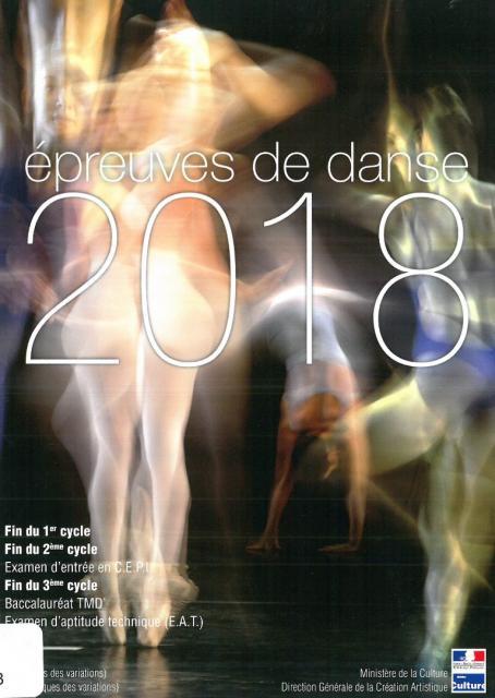 Epreuves de danse 2018