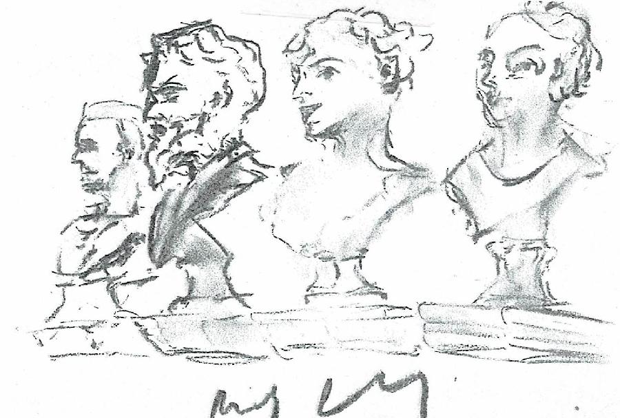 Cours de dessin autour des oeuvres du musée