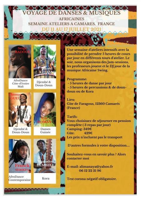 Voyage de danses et musiques africaines